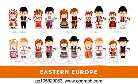 Eps illustration europeans in. Europe clipart animated