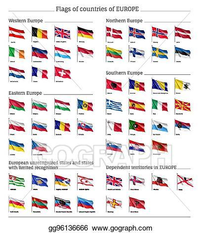 Europe clipart big. Vector art flags of