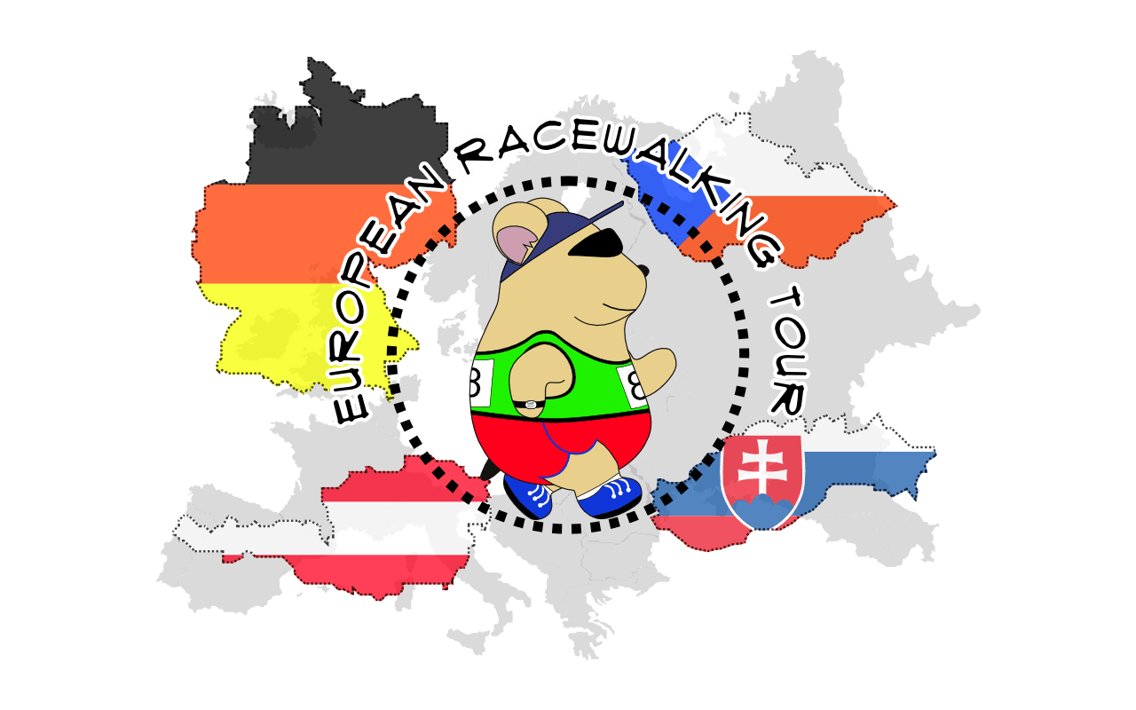 Fast clipart winer. Racewalking tour around europe