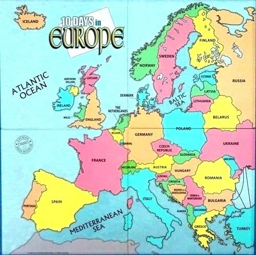 Europe clipart colored. Map labeled of as
