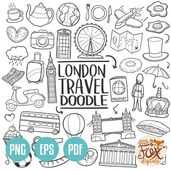 Eps vector london england. Europe clipart doodle