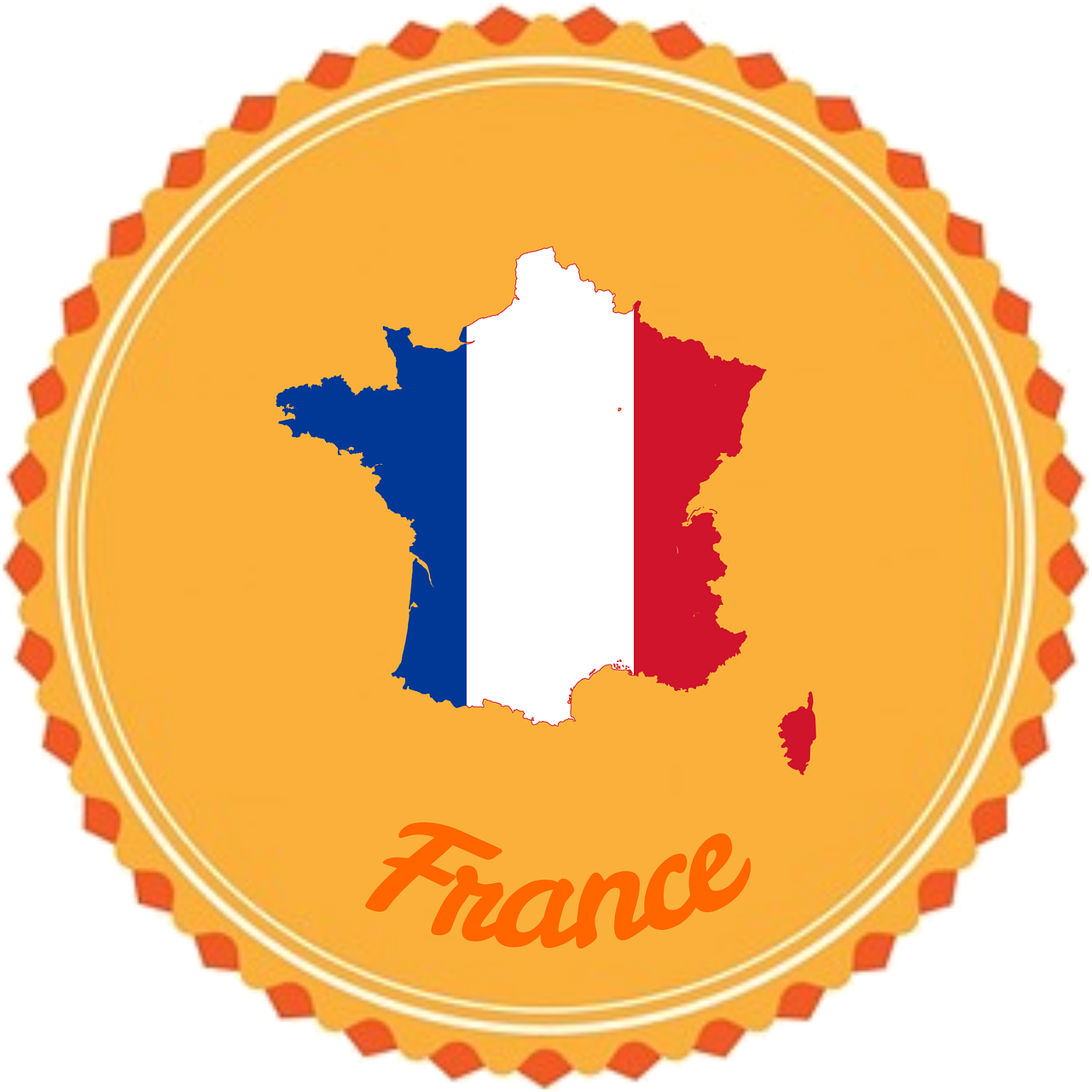 France badge flair icon. Europe clipart flag europe