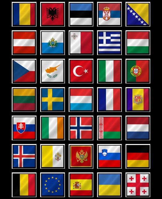 Europe clipart flag europe. European flags free icons
