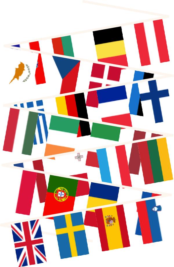Buy european union bunting. Europe clipart flag europe