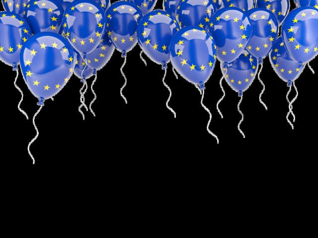 Europe clipart flag europe. Balloons frame illustration of