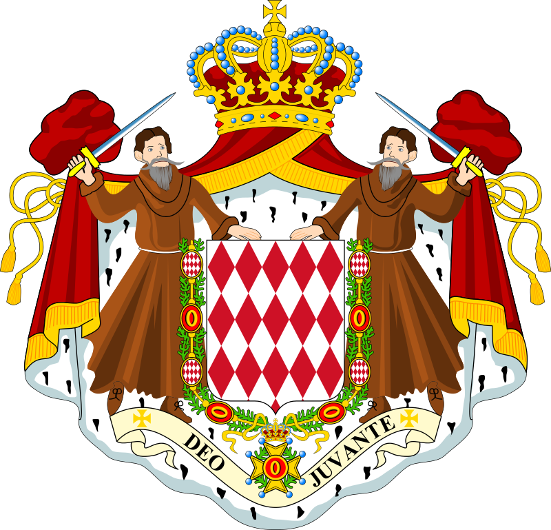 Coat of arms monaco. Europe clipart french building
