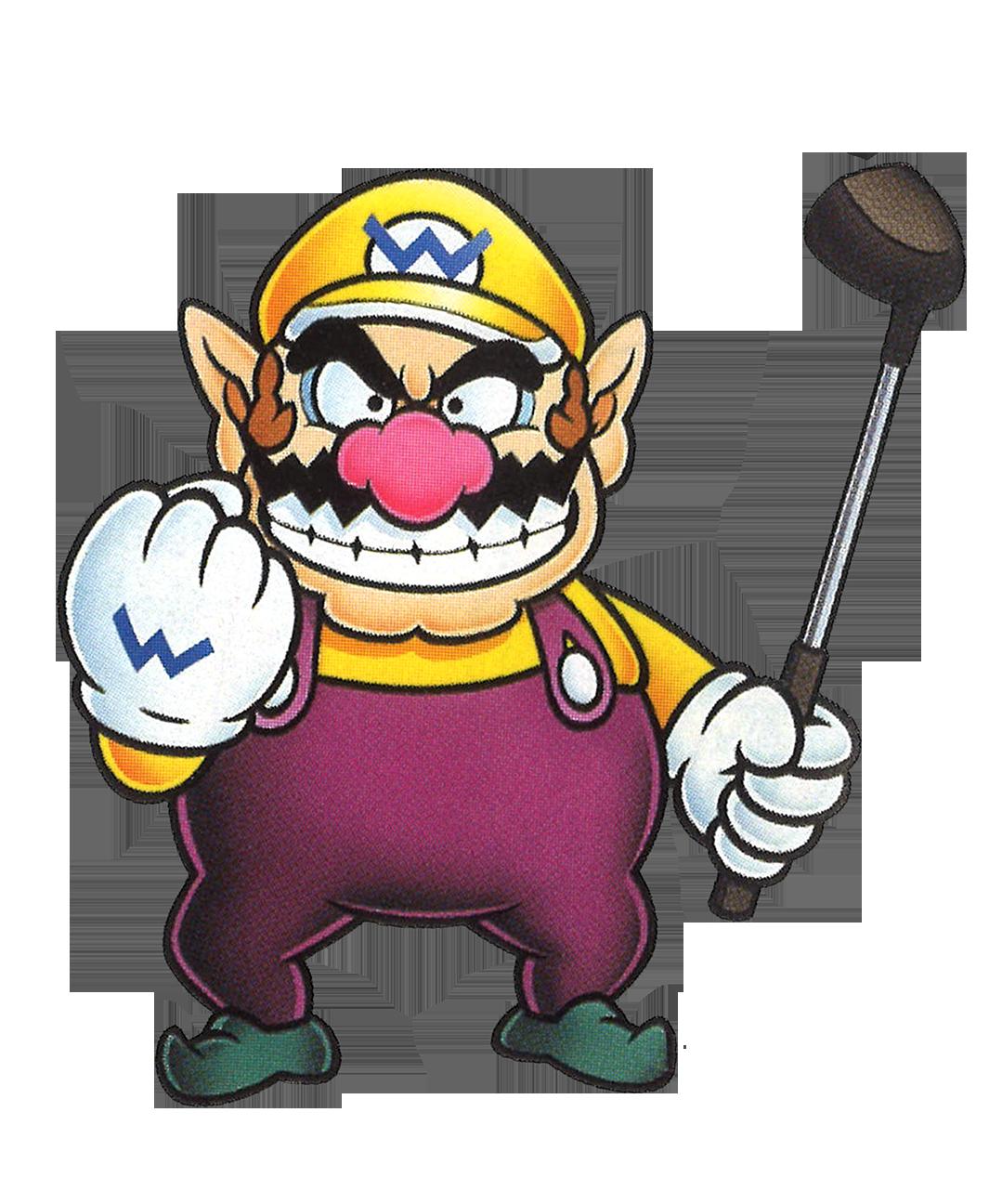 Mario clipart sad. Artwork of wario from