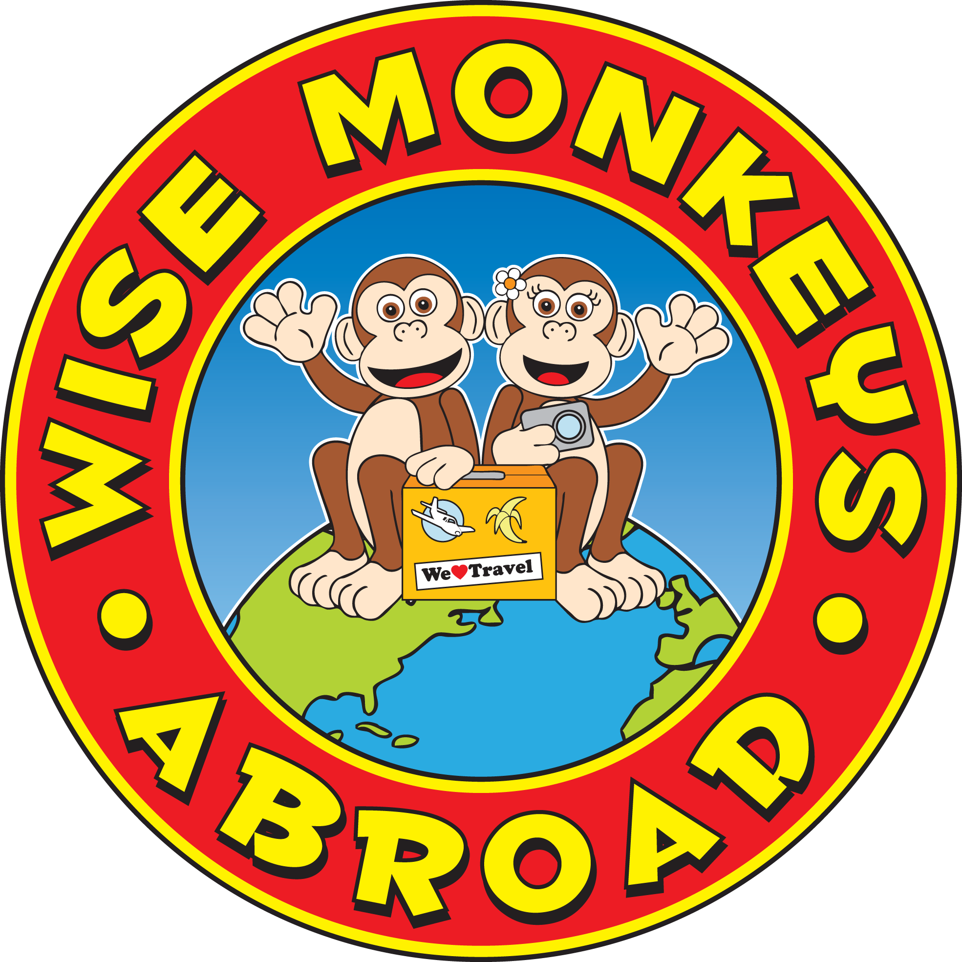 Film clipart movie prop. Wise monkeys abroad