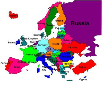Europe clipart labeled. Map of to label