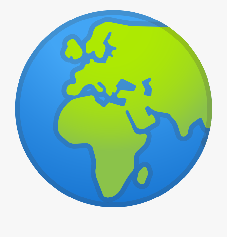 Europe clipart logo earth. Globe showing africa icon