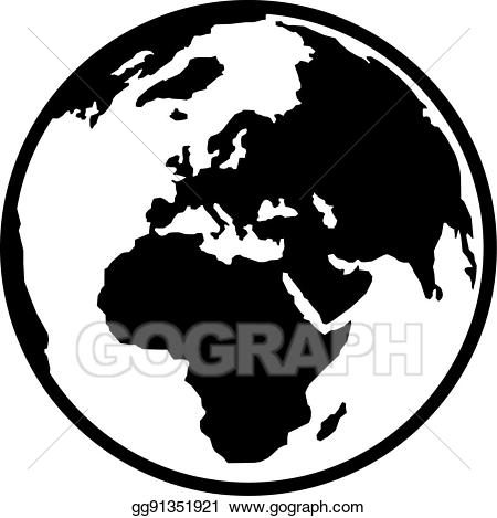 Europe clipart logo earth. Vector illustration planet and