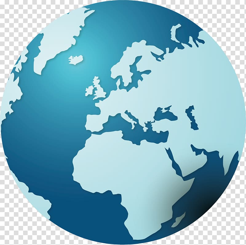 Globe creative transparent background. Europe clipart logo earth