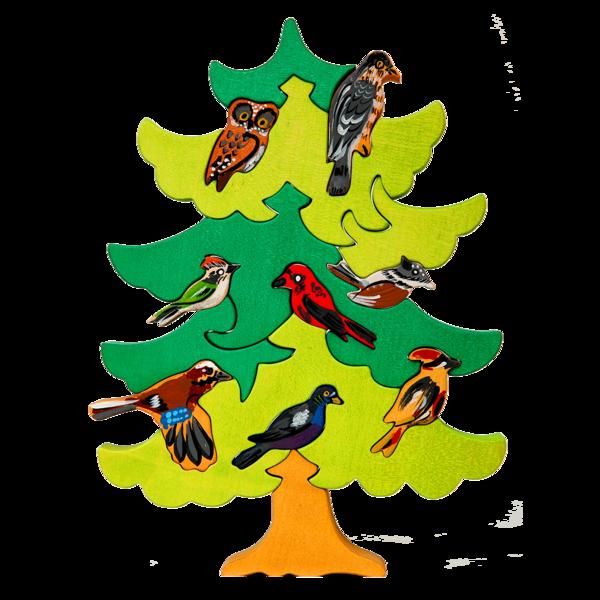 North european bird tree. Europe clipart montessori