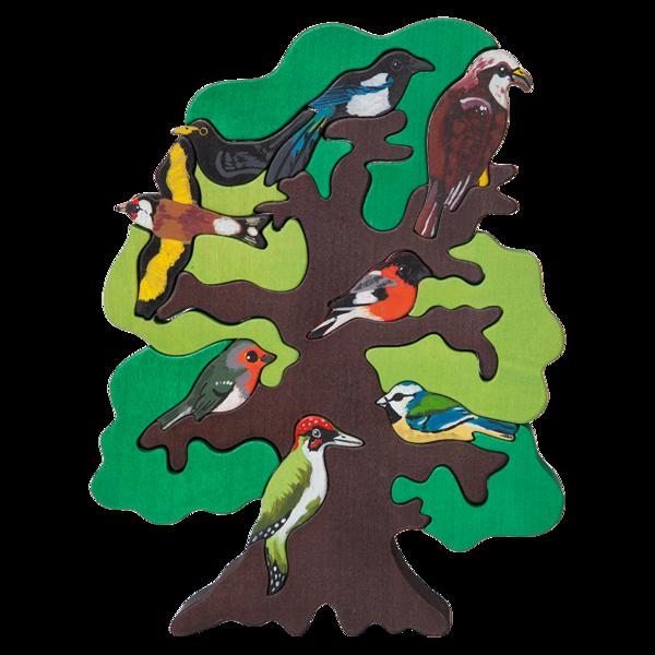 Europe clipart montessori. European bird tree puzzle