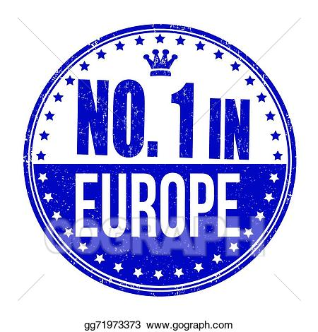 Vector art one in. Europe clipart number