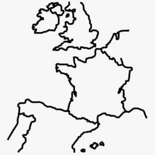 Europe clipart outline. Of map png free