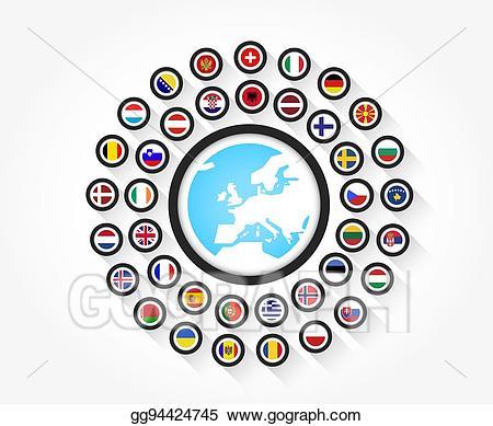 europe clipart shape