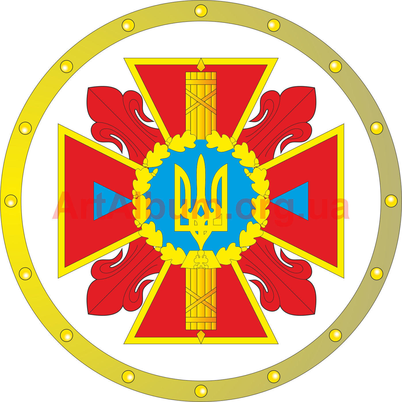 Emblem of ministry emergency. Europe clipart sight
