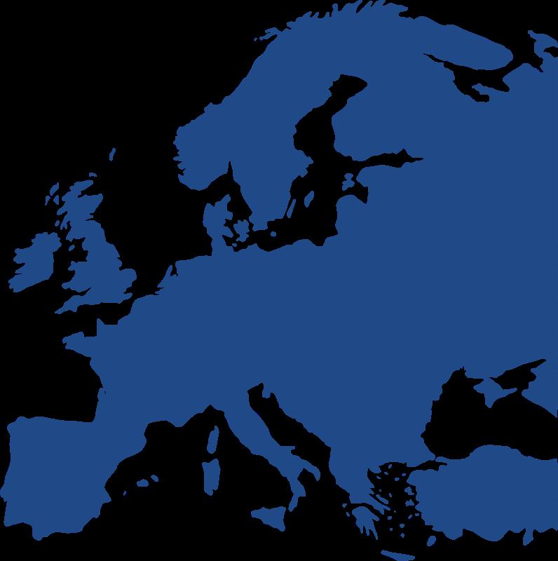 Europe clipart simple. Map of equidistant medium