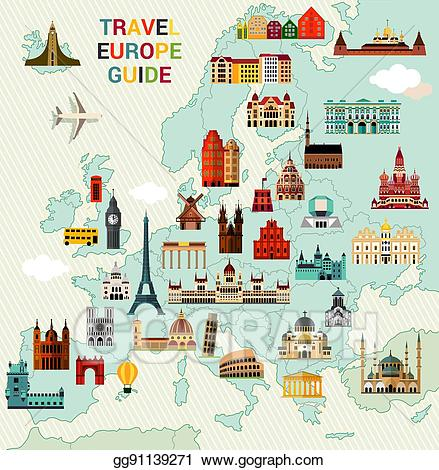 Europe clipart travel europe. Vector stock map clip