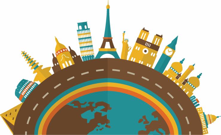 Europe clipart travel europe. Tourism creative building transprent