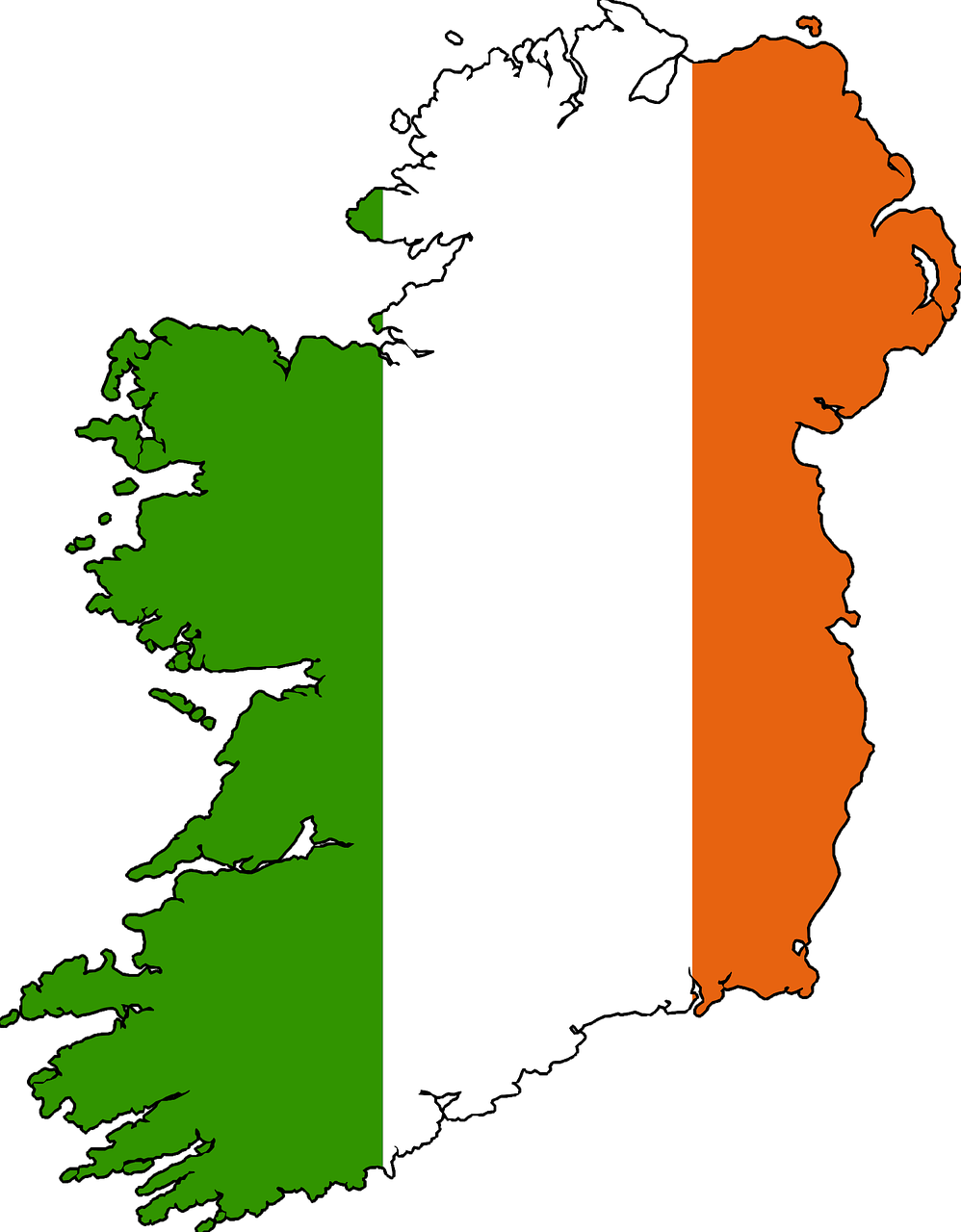 Ireland map drawn holiday. Europe clipart vacation europe