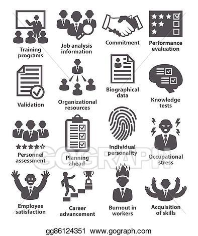 Vector art business management. Evaluation clipart commitment