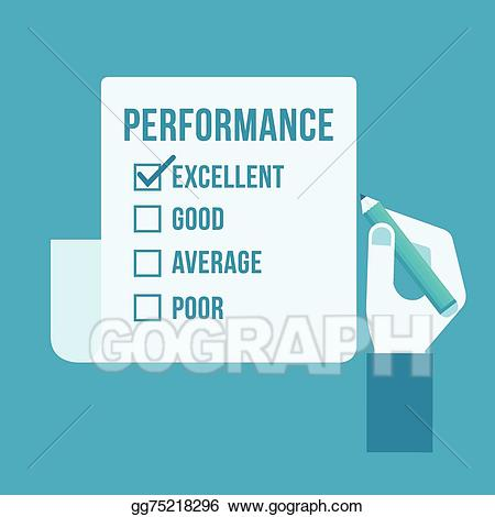 Vector stock performance . Evaluation clipart evaluation form