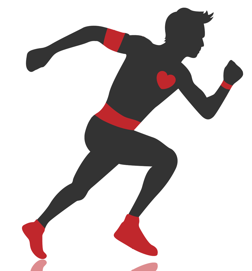 Body age test track. Exercising clipart gym