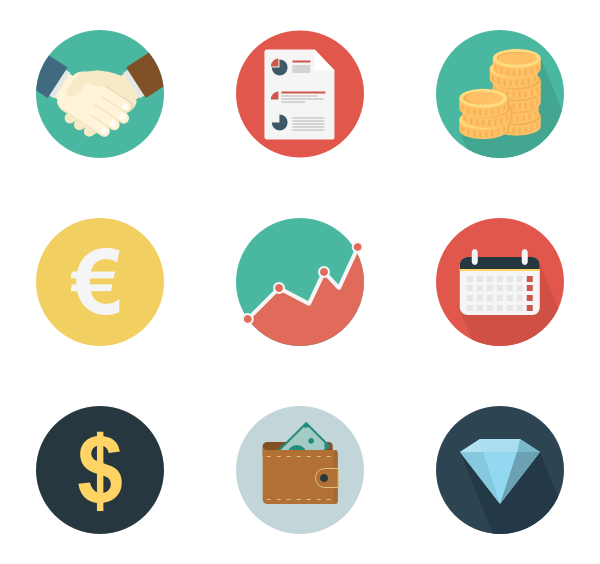 Tax clipart flat icon. Financial icons free vector
