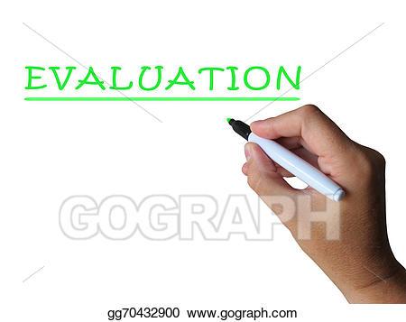 Stock illustration word means. Evaluation clipart interpretation