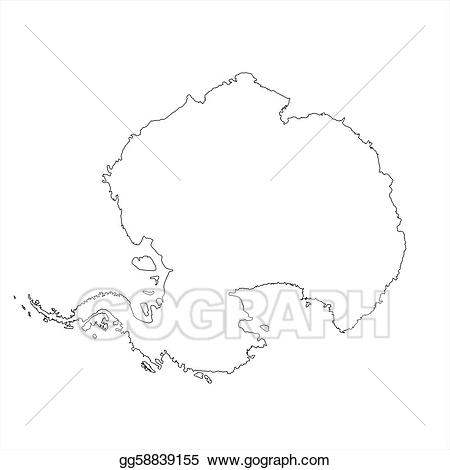 Evaluation clipart mapping. Stock illustration blank antarctica