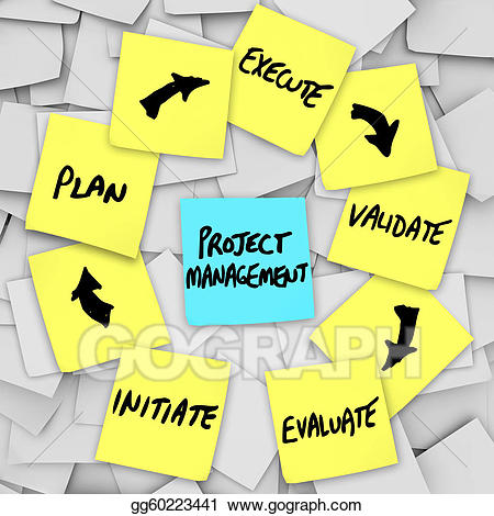 Evaluation clipart planning. Stock illustration project management