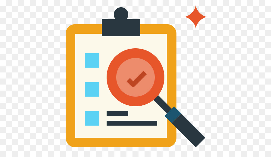 Icon business yellow text. Evaluation clipart research design