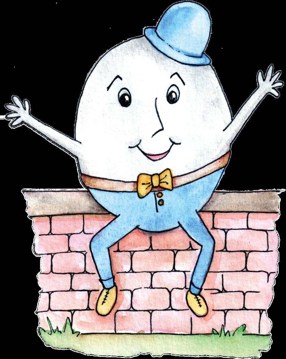 humpty dumpty clipart wall