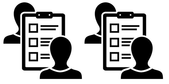 Two ways to take. Evaluation clipart survey