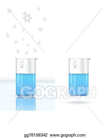 Vector stock chemical clip. Evaporation clipart beaker