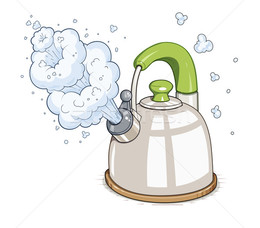 Resolution boiling water in. Evaporation clipart hot kettle