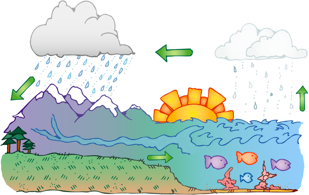 Thinglink a year ago. Evaporation clipart water cycle