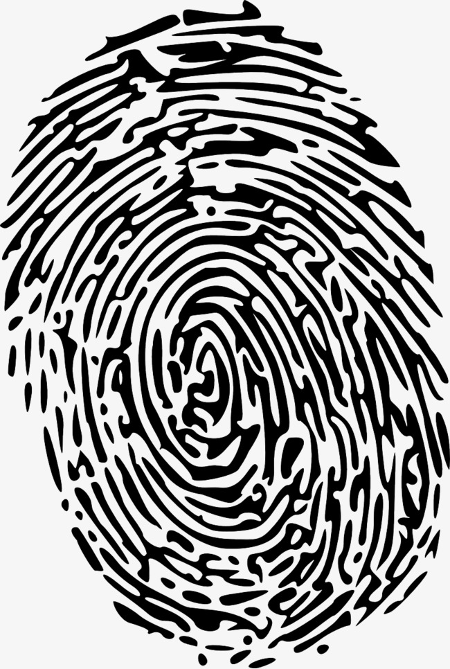 Fingerprints obtain evidence finger. Fingerprint clipart
