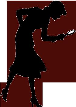 Evidence clipart. Nancy drew silhouette clip