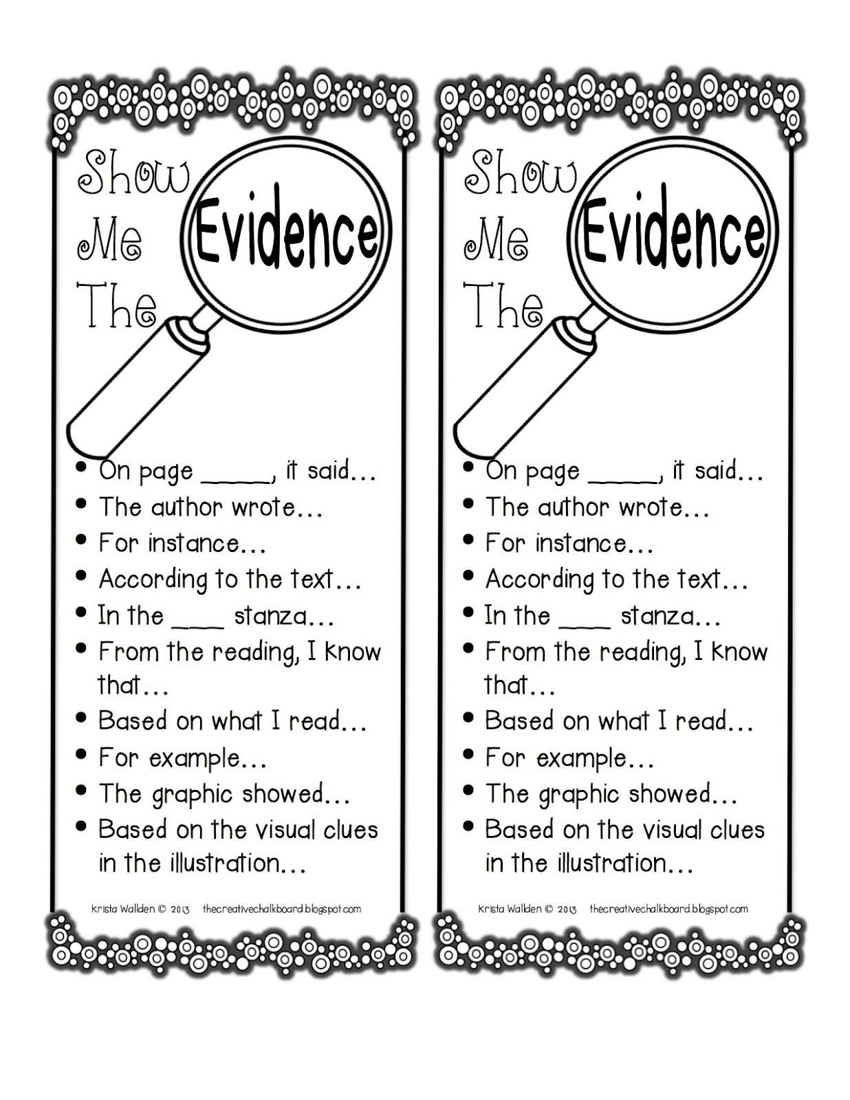 Text . Evidence clipart