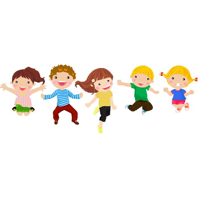 Happy children cartoons vectors. Hear clipart vector