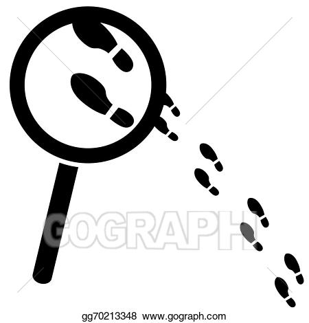 Vector stock searching for. Evidence clipart clue