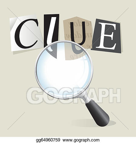 Evidence clipart clue. Vector art searching for