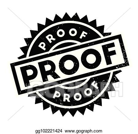 Vector stock proof rubber. Evidence clipart conclusion