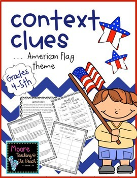 Evidence clipart context clue. American themed clues for