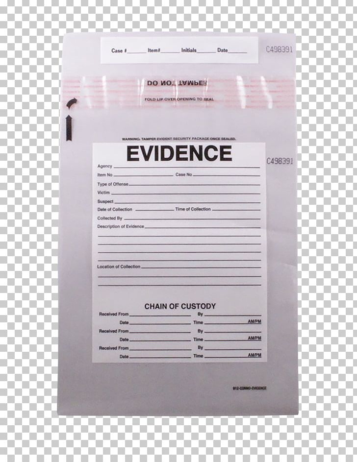 Plastic paper chain of. Evidence clipart evidence bag