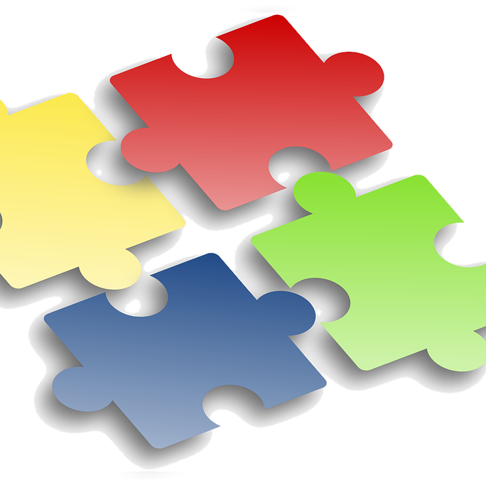 Levels of care coordination. Puzzle clipart interdependence