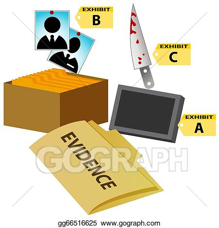 Vector art court eps. Evidence clipart evidence folder